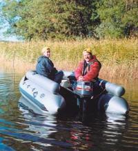"""Мотолодка """"Фрегат-380F"""" на воде"""