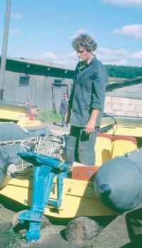 Мотор Вихрь со снятой крышкой