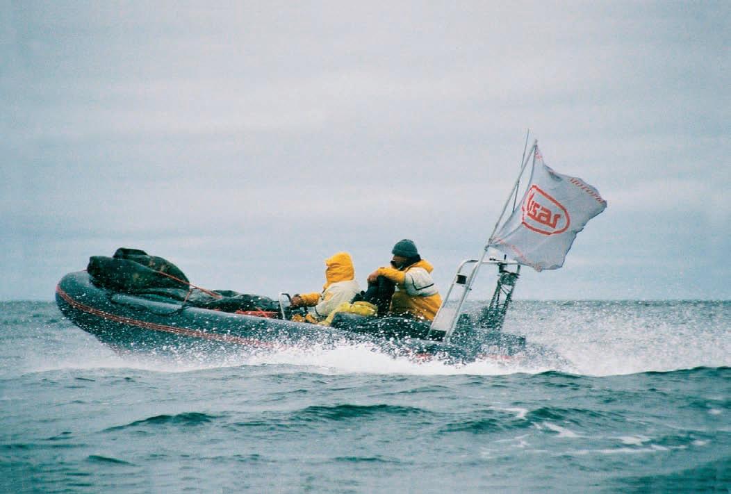 Моторная лодка на дистанции похода