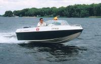 Моторная лодка Crosswind 160 на ходу