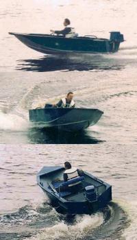 Моторная лодка на ходу