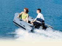Моторная лодка «Орион» на ходу