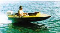 Моторная лодка «Супербесенок» на ходу