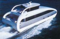 Моторная яхта-катамаран