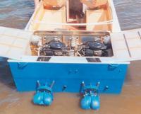 Моторный отсек катера