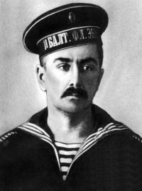 Н. Ю. Людевиг — матрос 1-го Балтийского флотского экипажа. Фото 1915 г.