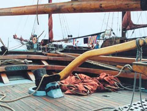 На палубе одного из шведских судов