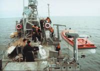На палубе пограничного корабля ПСКР 205 П