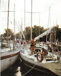 На стоянке яхт