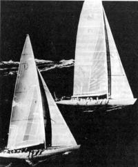 На тренировке со спарринг-партнером — яхтой класса R12