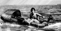 Надувная лодка с «Салютом-ЭС»