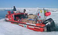 Наш катер сковал лед