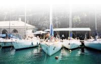 Наша яхта на стоянке в городе Корфу