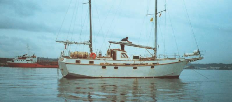 Наша яхта, вид сбоку