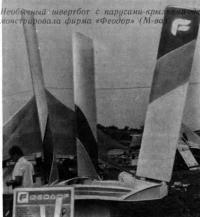 Необычный швертбот с парусами-крыльями фирмы «Феодор»