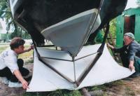 Носовая крыльевая система катера