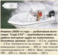Новинка 2000-го года — рыболовная мотолодка