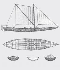 Обмерные эскизы лодки-верейки