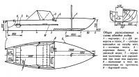 Общее расположение и схема обводов лодки