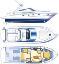 Общее расположение катера «Sarnico 43»