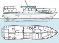 Общее расположение моторной яхты «Кама-93»