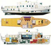Общее расположение судна «Детинец»
