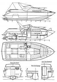 Общее расположение водометного катера