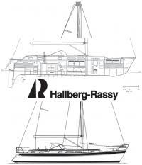 Общее расположение яхты «Halberg-Rassy 43»