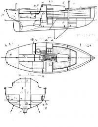 Общее расположение яхты «Корниш иол»