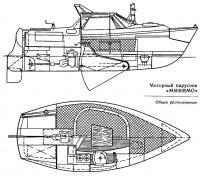 Общее расположение яхты «Минимо»