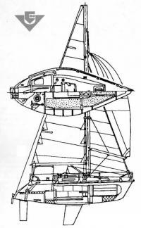 Общее расположение яхты «Нева-2»