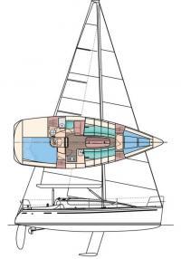Общее расположение яхты «Рикошет-930»