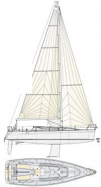 Общее расположение яхты Рикошет 1220