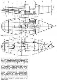 Общее расположение яхты