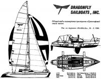 Общий вид и планировка тримарана «Дрэгонфлай свинг винг»