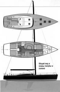 Общий вид и планы палубы и салона