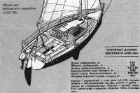 Общий вид крейсерского швертбота «ЛЭС-750»