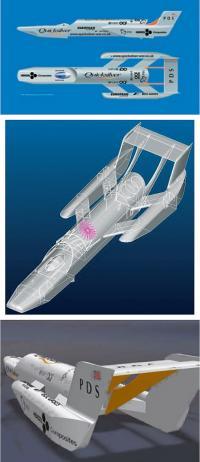Общий вид модели английского рекордного глиссера «Quicksilver»