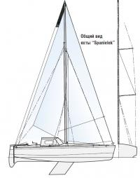 """Общий вид яхты """"Spanielek"""""""