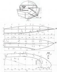 Обводы корпуса мотолодки