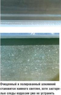 Очищенный и полированный алюминий становится намного светлее
