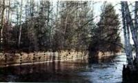 Один из заброшенных шлюзов Обь-Енисейского канала