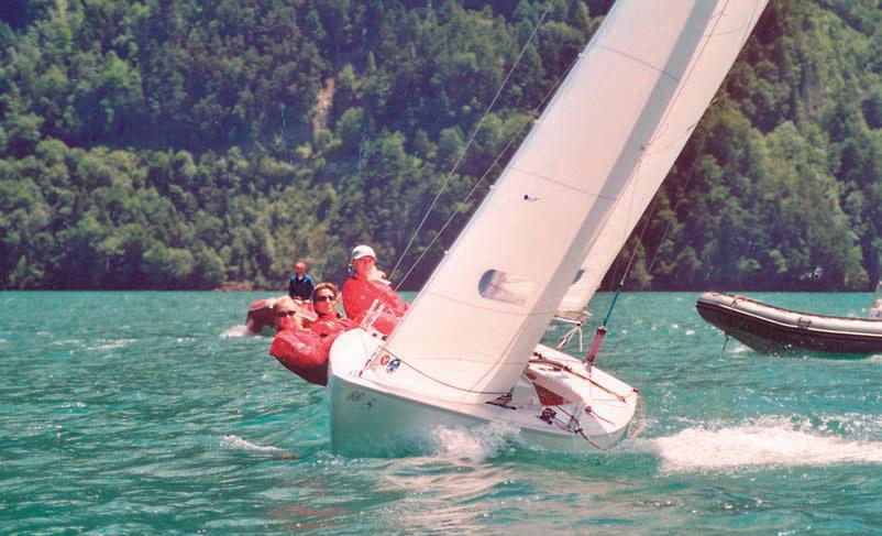 Однокорпусная яхта на дистанции