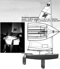Основные размерения швертбота «Zoom 8»