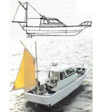 Парус на рыболовном катере