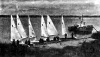 Парусники яхт-клуба у берега