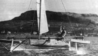 Парусное судно с подводными крыльями