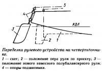 Переделка рулевого устройства на четвертьтоннике