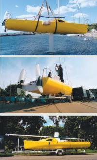 Перевозка яхты Алекстар 767 «Ураган» на трейлере