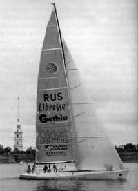 Первая яхта-прототип, выделенная российской команде